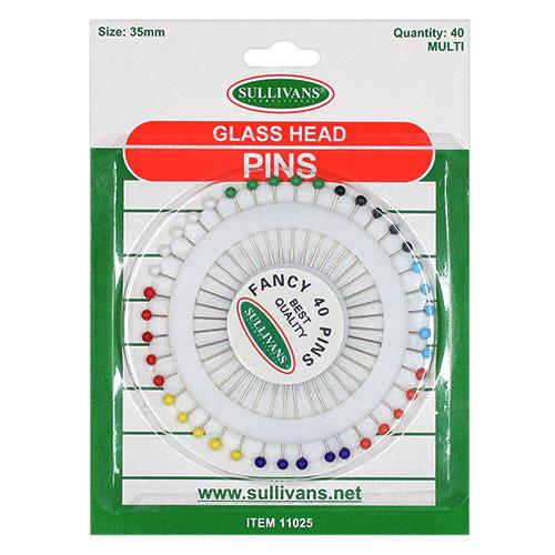 PINS GLASS HEAD [40] H/S