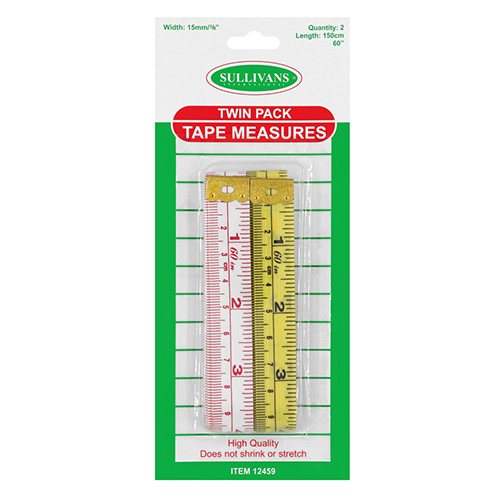 TAPE MEASURE 2PK MET&IMP 150CM