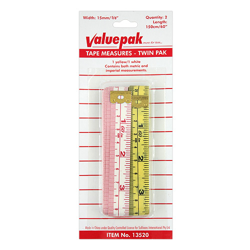 VALUEPAK TAPE MEASURE 2PK 150CM