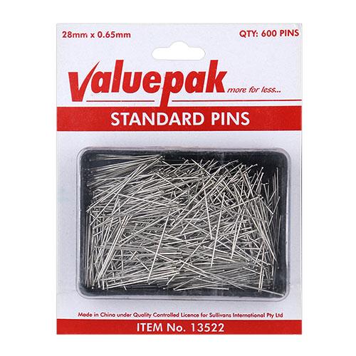 VALUEPAK STANDARD PINS QTY 600
