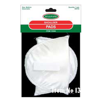 SHOULDER PAD DETACH WHITE SML