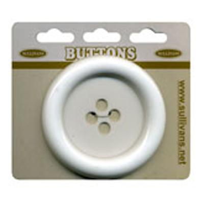 BUTTON 63MM WHITE 10 / $3.49 ea.