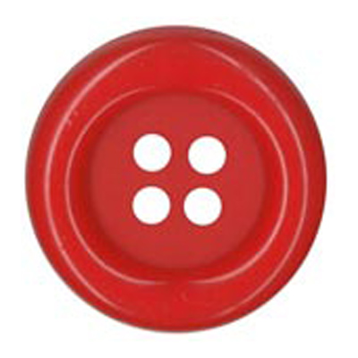 BUTTON 38MM RED 25 / $ 3.29 ea.