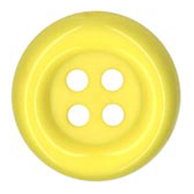 BUTTON 38MM YELLOW 25 / $ 3.29 ea.