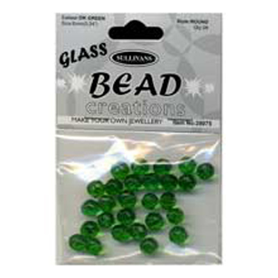 BEAD ROUND FACETED GLASS D/GREE