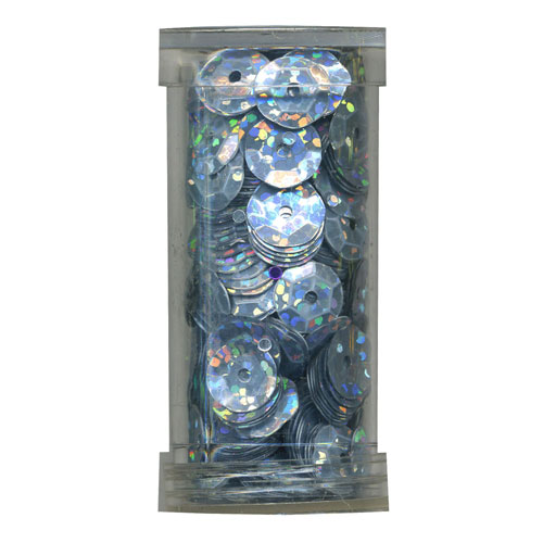 SEQUIN CUP 6MM AB SILVER 9g