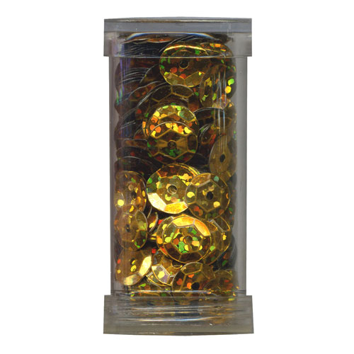 SEQUIN CUP 6MM AB GOLD 9g