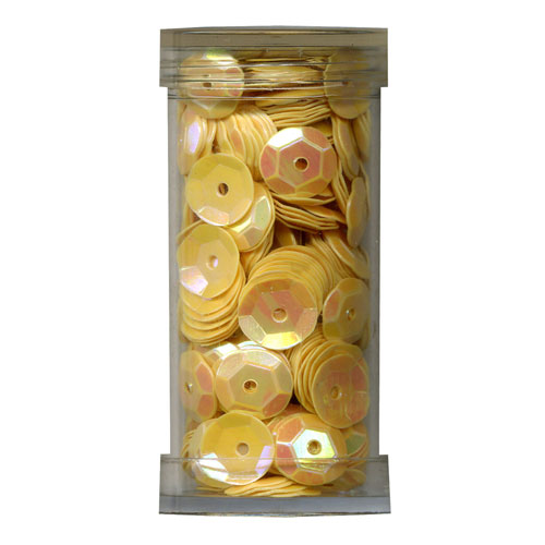 SEQUIN CUP 6MM YELLOW 9g