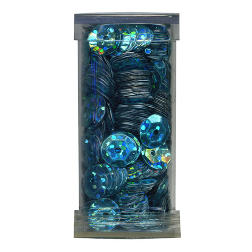 SEQUIN CUP 6MM AB BLUE 9g