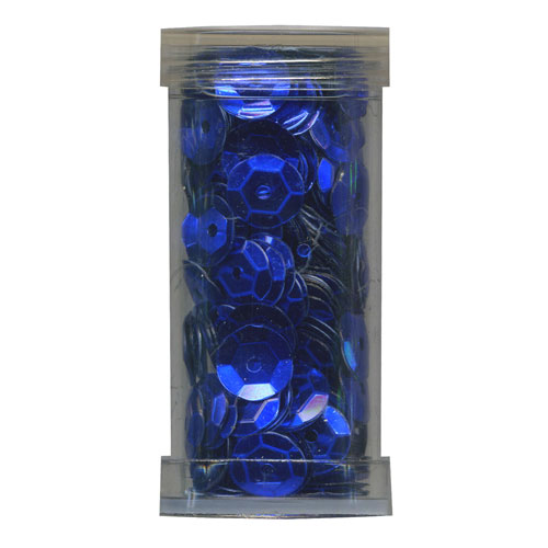SEQUIN CUP 6MM ROYAL BLUE 9g