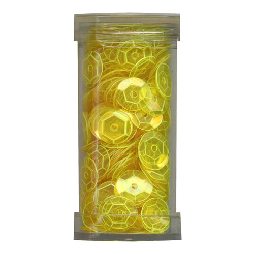 SEQUIN CUP 6MM FLUORO YELLOW 9g