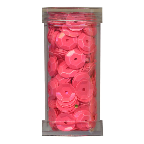 SEQUIN CUP 6MM FLUORO PINK 9g