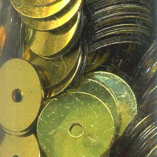 SEQUIN FLAT 8MM GOLD 11g