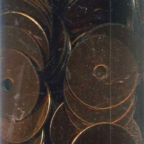 SEQUIN FLAT 8MM BRONZE 11g