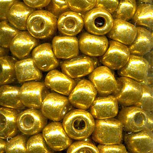 SEED BEAD SIZE 8 GOLD 22g