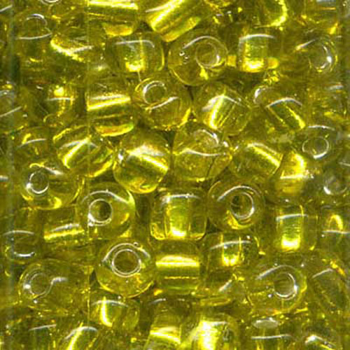SEED BEAD SIZE 8 YELLOW 22g