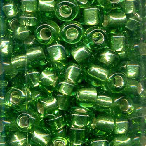 SEED BEAD SIZE 8 GREEN 22g