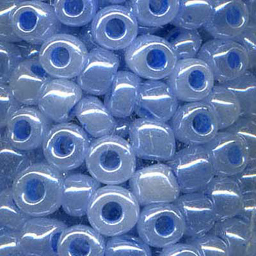 SEED BEAD SIZE 8 PEARL BLUE 22g