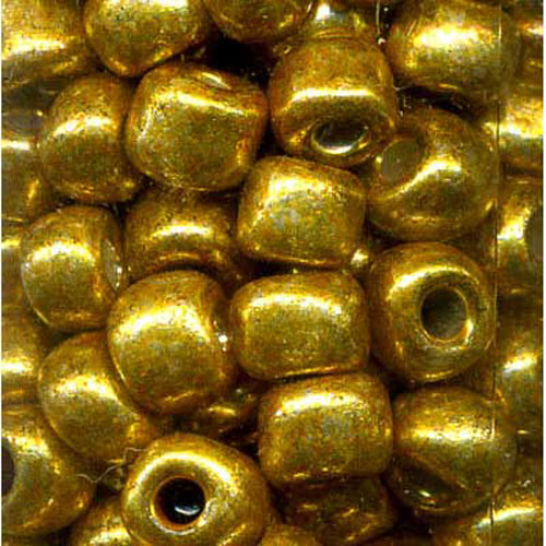 SEED BEAD SIZE 6 GOLD 22g