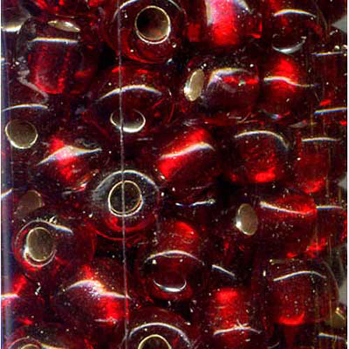 SEED BEAD SIZE 6 RED 22g