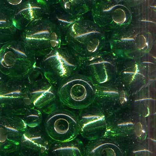 SEED BEAD SIZE 6 GREEN 22g