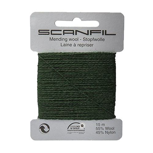 SCANFIL MENDING WOOL FOREST GRN