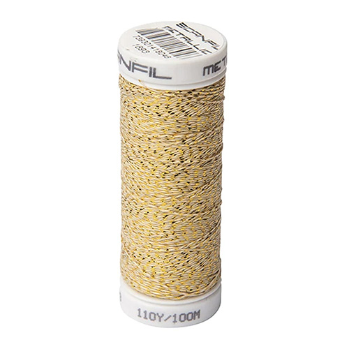 SCANSILK METALLIC MED GOLD 100M