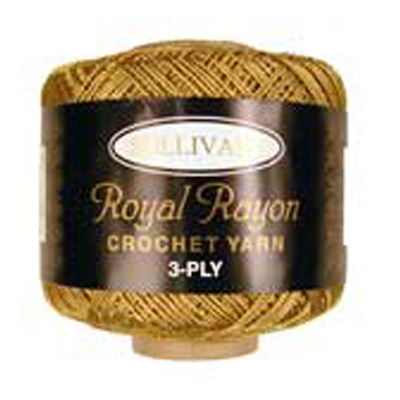 ROYAL RAYON CROCHET OLD GOLD