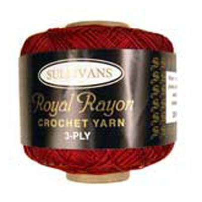 ROYAL RAYON CROCHET CLARET