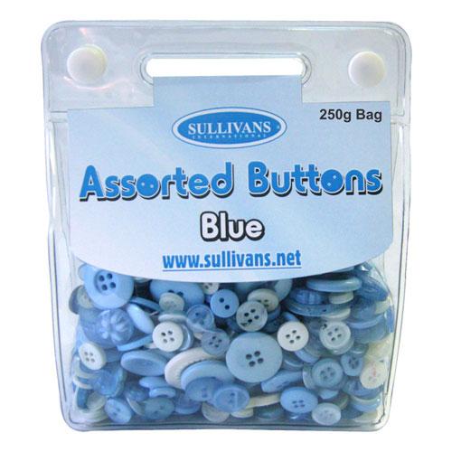 ASSORTED BUTTONS BLUE