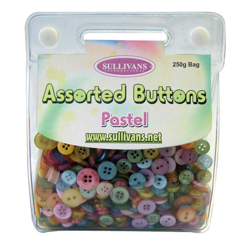 ASSORTED BUTTONS PASTEL