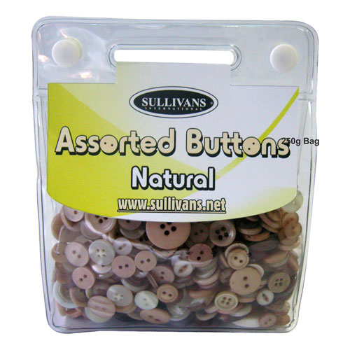ASSORTED BUTTONS NATURAL