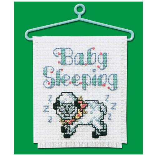 CROSS STITCH KIT BABY SLEEPING