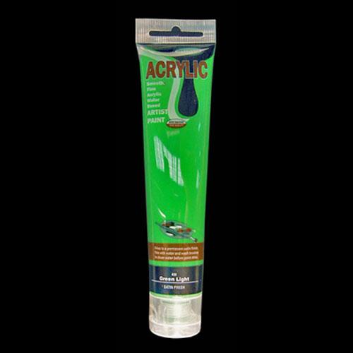 ACRYLIC PAINT 75M L GREEN LIGHT