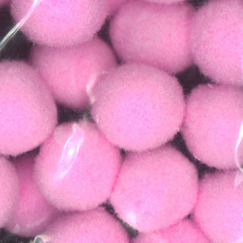 POM POMS LIGHT PINK 7MM 48PCS