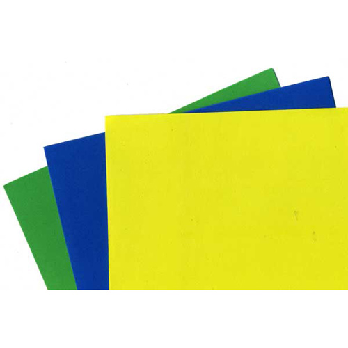 FOAM SHEET PK3 ROYAL/GREEN/YELLOW