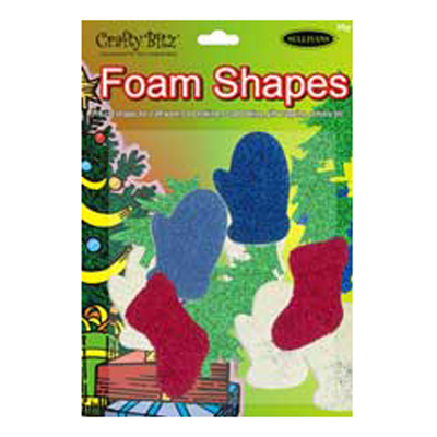 FOAM SHAPES GLITTER 30g