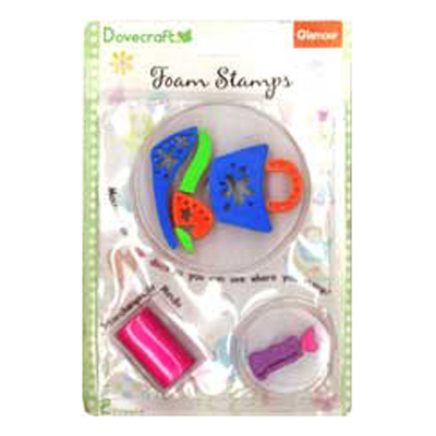 FOAM STAMPS-GLAMOUR-3PCS