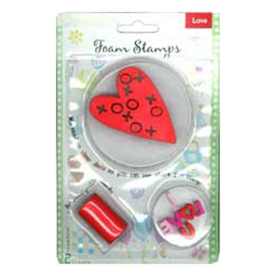 FOAM STAMPS-LOVE 3PCS