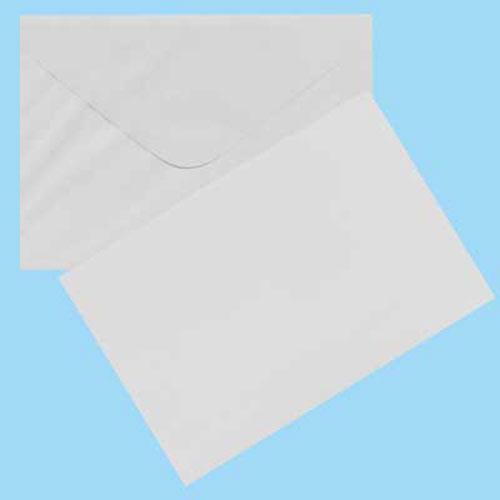 CARDS & ENVELOPES 6 PK WHITE