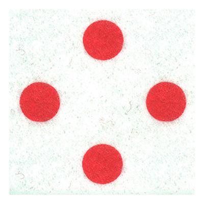 FELT PIECE PRINTED POLKA DOT RED