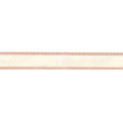 RIBBON ORGANZA SATIN EDGE 12MM CREAM