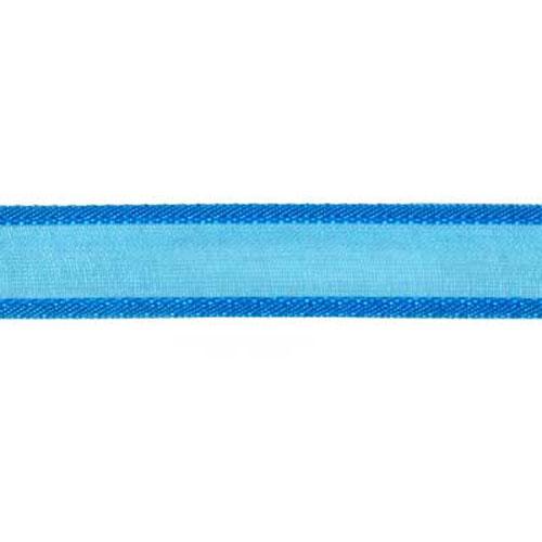 RIBBON ORGANZA SATIN EDGE 12MM BLUE