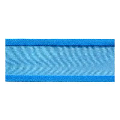 RIBBON ORGANZA 25MM SATIN EDGE BLUE