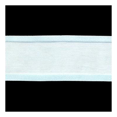 RIBBON ORGANZA 38MM SATIN EDGE LT BLUE