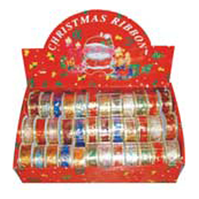 CHRISTMAS BOXED RIBBON 25MM