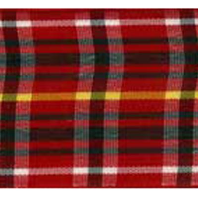 RIBBON SCOTLAND 25MM TRAD RED