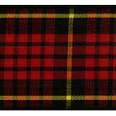 RIBBON SCOTLAND 38MM RED BLACK