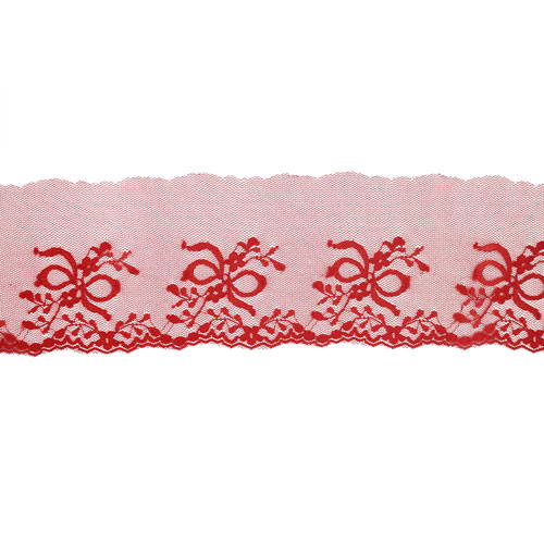 NYLON LACE 80MM RED