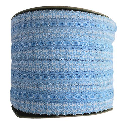 EYELET LACE 30MM BLUE BULK